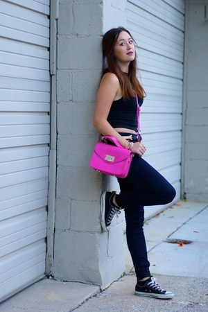 hot pink LANY bag