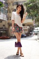 Midwest Vintage bag - Topshop shorts - Monki top