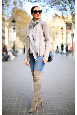Seven For All Mankind jeans - All Saints scarf