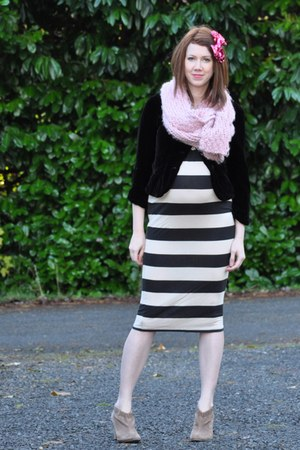 sam edelman shoes - Asos Maternity dress - thrifted vintage blazer