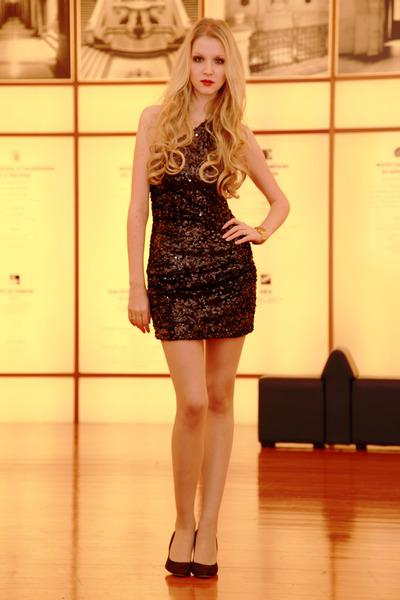 brown LK Bennet London heels - AXPAris dress