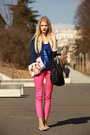 Oh-so-pink-h-m-jeans-deep-blue-h-m-blazer-black-iam-bag