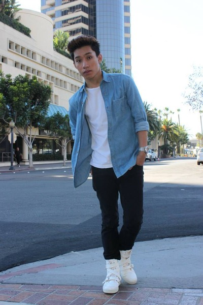 Urban Outfitters shirt - Zara shirt - Christian Louboutin shoes