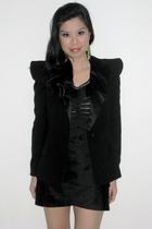 black random brand blazer - black random brand dress