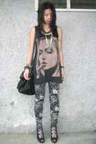 black random from Bangkok top - Zara pants - blue GoJane shoes - black cotton on