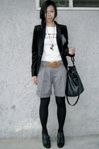 black Zara blazer - white random from Bangkok t-shirt - Topshop pants - black To
