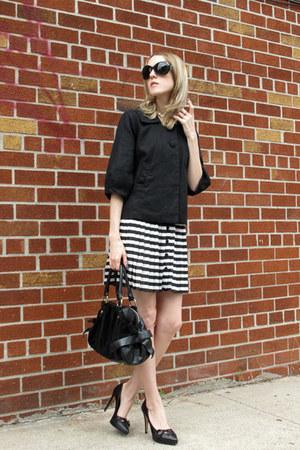 black H&M jacket - black Leo Ventoni bag - 7eye sunglasses