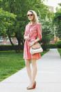 Red-gap-dress-ivory-etienne-aigner-bag-orange-swg-sunglasses