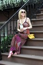 Purple-moa-moa-dress-yellow-perlina-new-york-bag