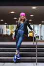 Hot-pink-neff-hat-black-kenneth-cole-jacket-heather-gray-gap-bag