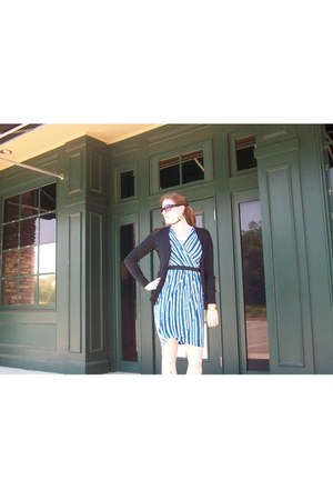 Old Navy cardigan - Payless shoes - New York & Company dress