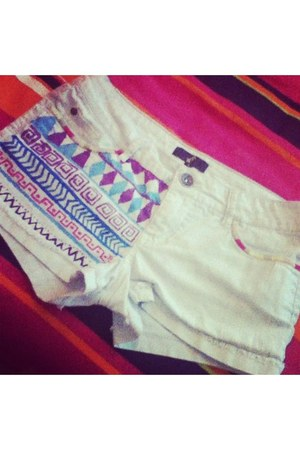 white DIY shorts