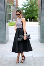 Black-h-m-skirt-black-forever-21-top