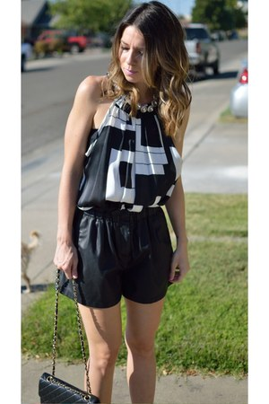 leather Zara shorts