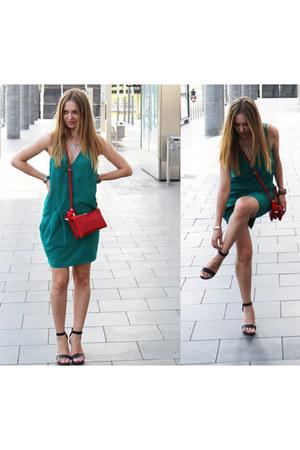 leather COS sandals - cotton H&M Trend dress - faux leather Zara bag