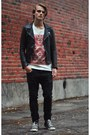 Cheap-monday-jeans-second-hand-jacket-weekday-t-shirt-converse-sneakers