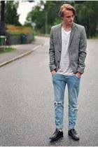 Topman blazer - Din Sko shoes - Cheap Monday jeans - H&M t-shirt
