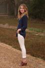 White-levis-jeans-navy-tj-maxx-blouse