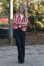 Red-luella-for-target-blazer-tan-clarks-boots-navy-levis-jeans
