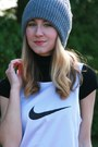 Black-gap-t-shirt-white-nike-t-shirt-heather-gray-thrifted-hat