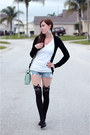Black-cat-born-pretty-store-tights-light-blue-mint-forever-21-bag