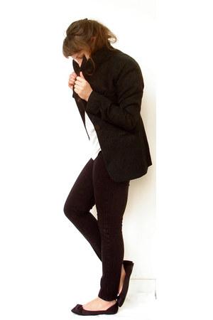 black brocade cotton Michael Kors jacket - Lela Rose for Payless flats