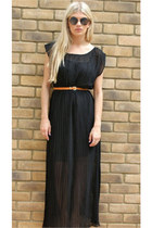 black maxi pleated Never Fully Dressed dress