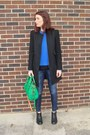 Black-zara-coat-navy-denim-current-elliot-jeans