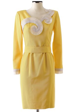 yellow lanvin dress