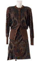 Brown-lanvin-cardigan-brown-lanvin-skirt