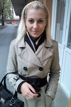 trench coat H&M coat - H&M scarf - Tally Weijl bag - Tally Weijl belt