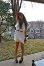 White-bcbg-max-azria-dress-black-thick-bow-cuff-xxi-forever-bracelet