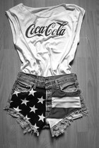 white Coca Cola shirt
