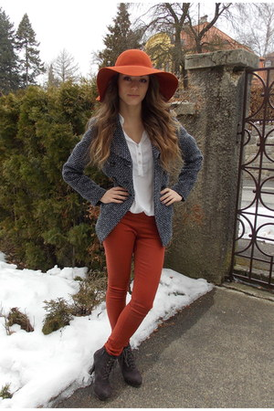 ruby red cotton I am hat - heather gray F&F coat
