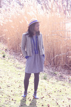 modcloth dress - vintage from Ebay hat - thrifted vintage blazer - Marais sandal