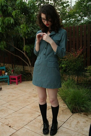Secondhand dress - delta socks - shoes