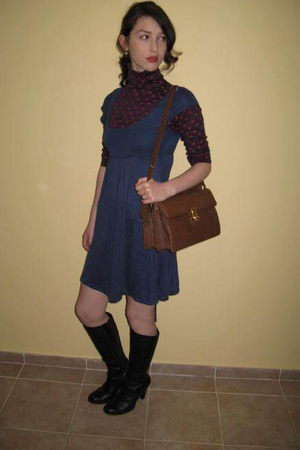 H&amp;M dress - cala blouse - Secondhand purse - Aldo shoes