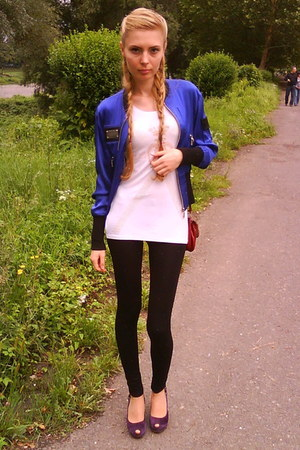 blue Cinema Donna jacket - deep purple Maria Moro shoes