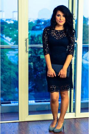 black lace Zara dress