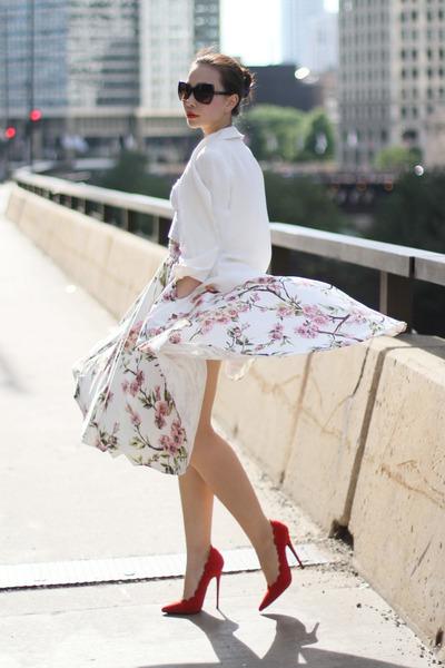 fewmoda skirt - Alice Yim blazer - Jeffrey Campbell heels