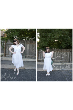 white vintage dress