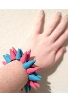sky blue DIY bracelet