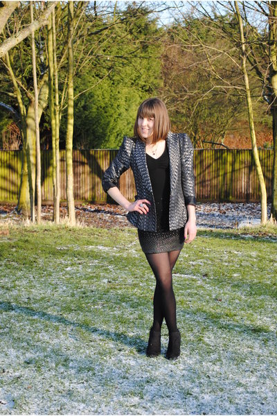 Clothes Show blazer - H&amp;M dress - tesco boots