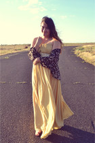 gold chiffon DresseStylist dress