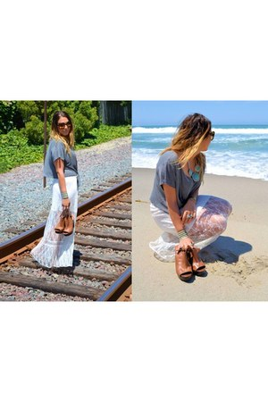 Millau shirt - Prada sunglasses - Urban Outfitters skirt - Dolce Vita clogs