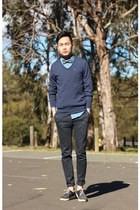 checked bowtie Topman tie - chambray shirt Topman shirt
