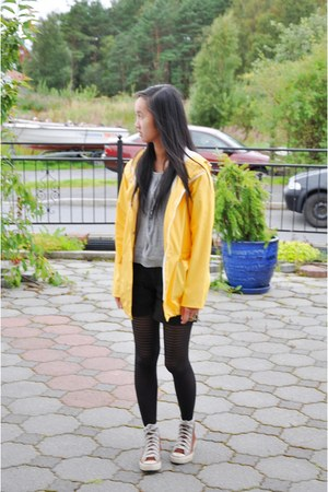 yellow Lands End jacket