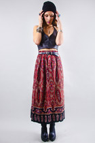 printed midi vintage skirt