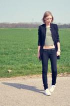 Zara jeans - H&M blazer - asos top - asos sneakers