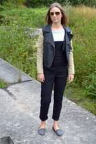 romwe jacket - Ray Ban sunglasses - asos romper - Zara loafers